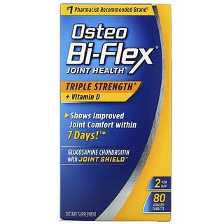 Osteo Bi-Flex, Joint Health, Triple Strength + Vitamin D, 80 Coated Tablets