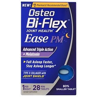 Osteo Bi-Flex, Joint Health, Ease PM, Advanced Triple Action + Melatonin, 28 Mini Tablets