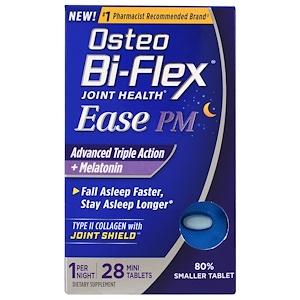 Остео Би Флекс, Joint Health, Ease PM, Advanced Triple Action + Melatonin, 28 Mini Tablets отзывы