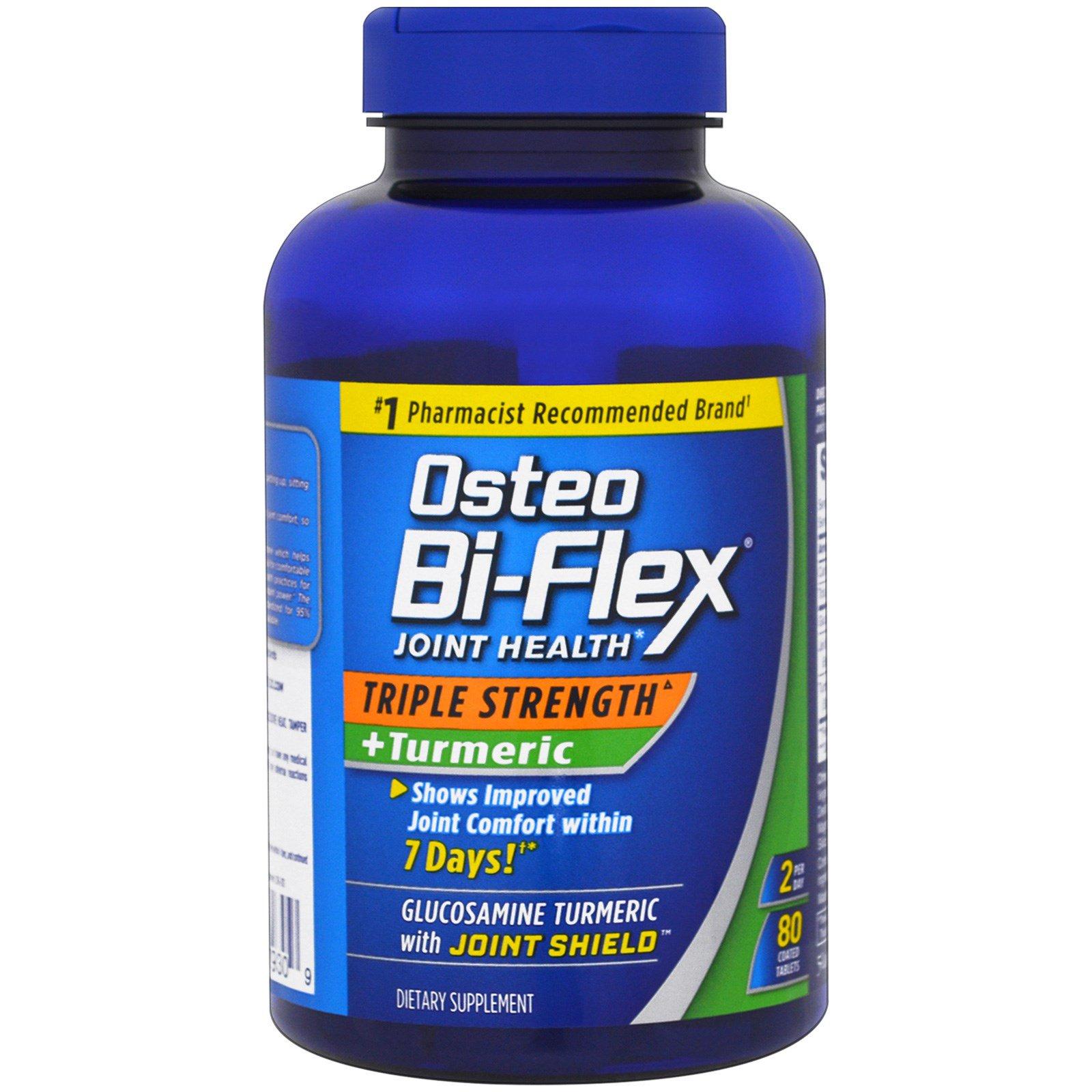 dab97e94407a8 Osteo Bi-Flex, Здоровье суставов, тройная сила + куркума , 80 ...