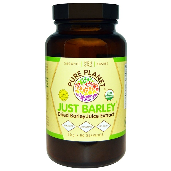 Pure Planet, Just Barley Orgánico, 80 g