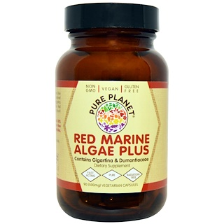 Pure Planet, Red Marine Algae Plus, 500 mg, 90 Cápsulas Vegetarianas