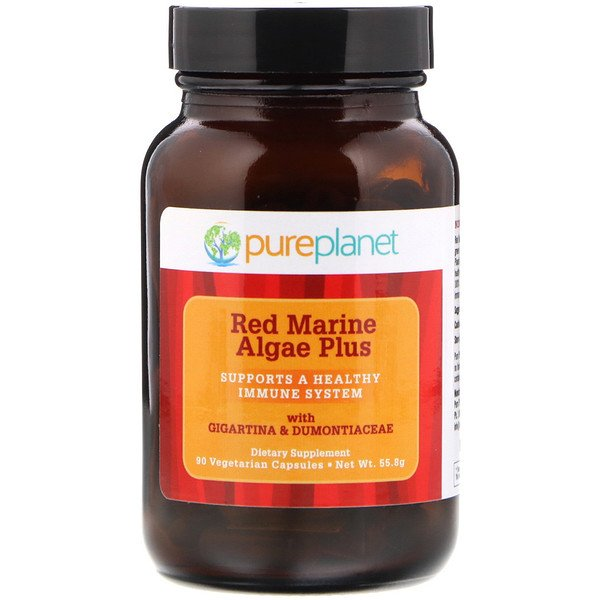 Pure Planet, Red Marine Algae Plus, 90 Vegetarian Capsules