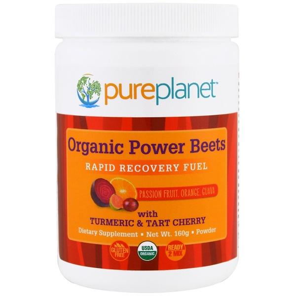 Pure Planet, 有機力量甜菜,快速恢復營養品,百香果、桔子、番石榴,160 g