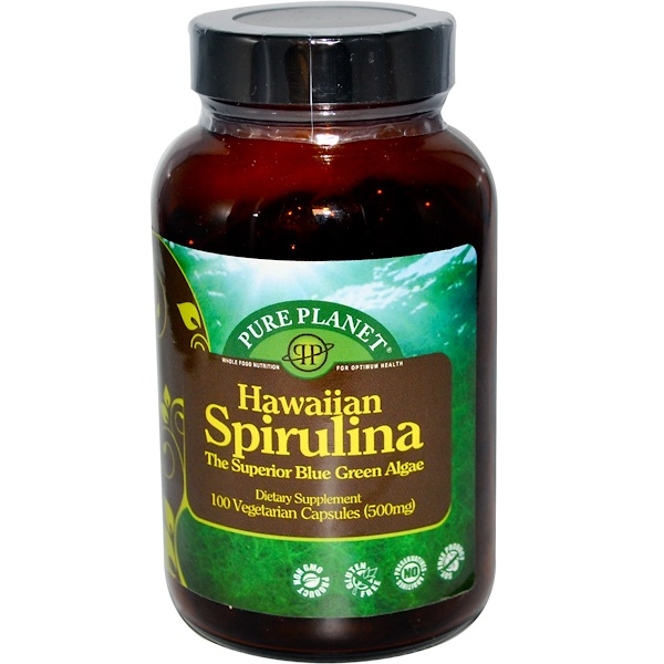 Pure Planet, Hawaiian Spirulina, 500 mg, 100 Veggie Caps (Discontinued Item)