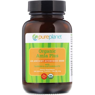 Купить Органический, Amla Plus, 500 мг, 100 таблеток
