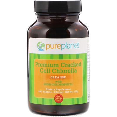 Купить Высококачественная хлорелла с измельченными клетками, 200 мг, 600 таблеток