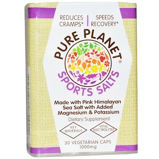 Pure Planet, Sports Salts, 1000 mg, 30 Veggie Caps