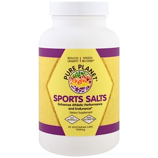 Pure Planet, Sports Salts, 1000 mg, 90 Veggie Caps