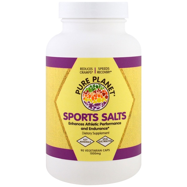 Pure Planet, Sports Salts, 1000 mg, 90 Veggie Caps