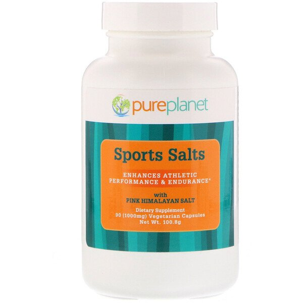 Pure Planet, Sports Salts, 1,000 mg, 90 Vegetarian Capsules