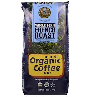 Organic Coffee Co., Organic French Roast, Whole Bean Coffee, 12 oz (340 g)