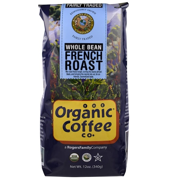 Organic Coffee Co., Organic French Roast, Whole Bean Coffee, 12 oz (340 g) (Discontinued Item)
