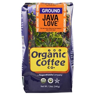 Organic Coffee Co., Organic Java Love, Pre Ground, 12 oz (340 g)