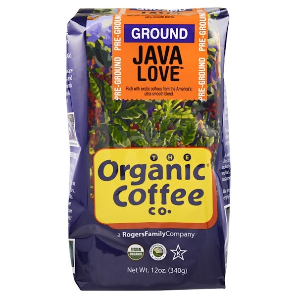 Organic Coffee Co., Java Love, Pre Ground, 12 oz (340 g)