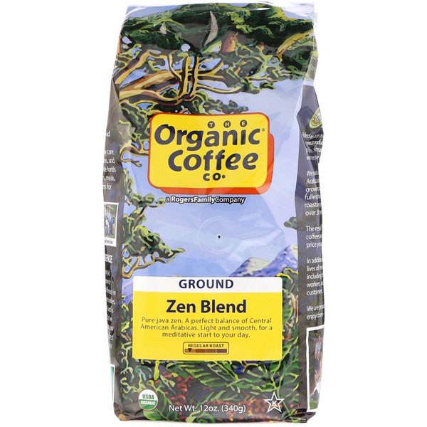 Organic Coffee Co., Organic Zen Blend, Ground, 12 oz (340 g)