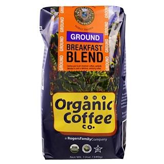 Organic Coffee Co., 朝食ブレンド、粉、12 オンス (340 g)