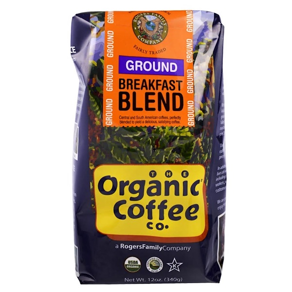 Organic Coffee Co., Organic Breakfast Blend, Ground Coffee, 12 oz (340 g)