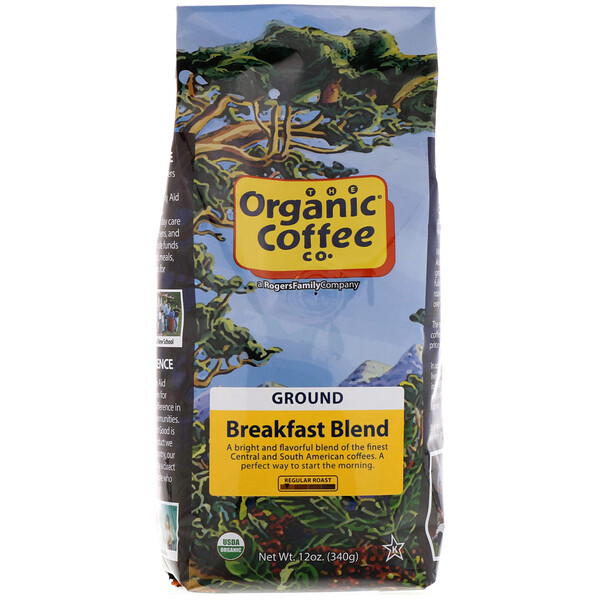 Organic Coffee Co., Breakfast Blend, Ground Coffee, 12 oz (340 g)