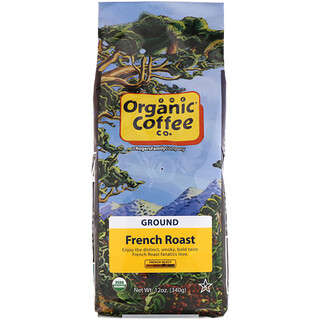Organic Coffee Co., Organic French Roast, Ground Coffee, 12 oz (340 g)