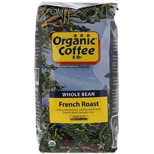 Органик Коффее Ко, French Roast, Whole Bean Coffee, 12 oz (340 g) отзывы