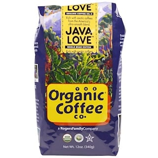Organic Coffee Co., Java Love, Whole Bean Coffee, 12 oz (340 g)