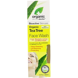 Organic Doctor, Organic Tea Tea Face Wash, 6.8 fl oz (200 ml)