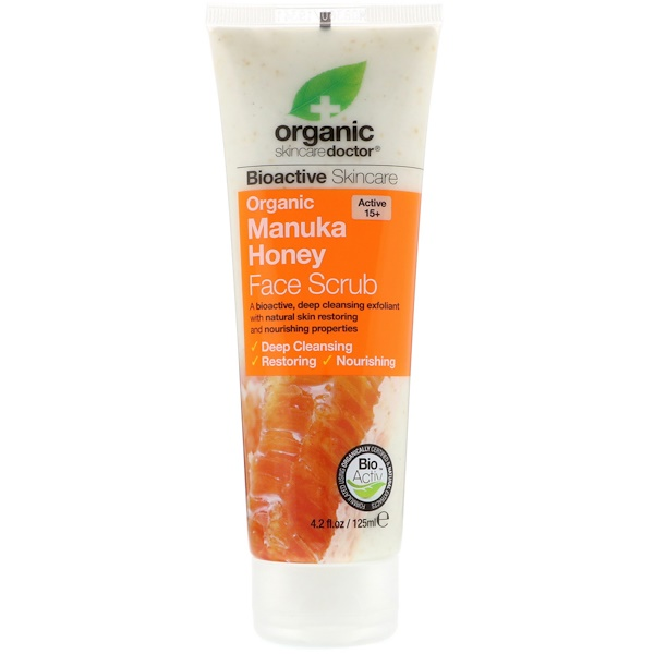 Organic Doctor, Organic Manuka Honey Face Scrub, 4.2 fl oz (125 ml) (Discontinued Item)