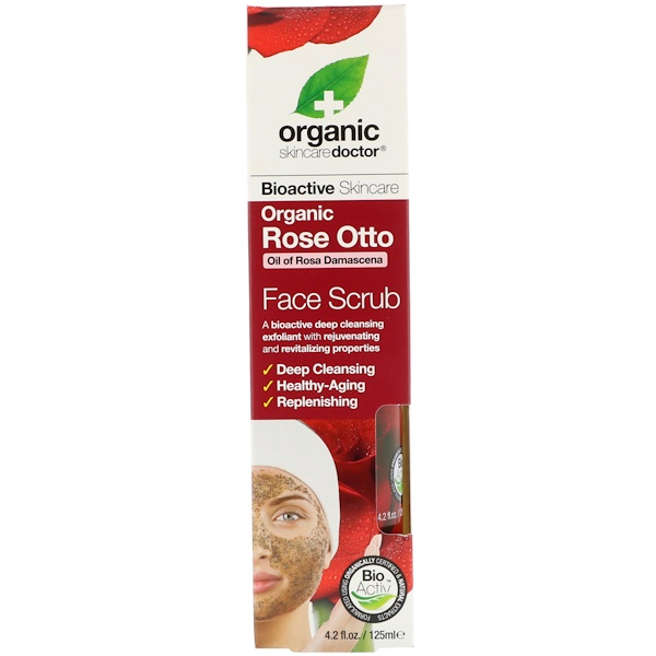 Organic Doctor, Organic Rose Otto Face Scrub , 4.2 fl oz (125 ml) (Discontinued Item)