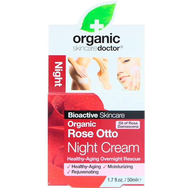 Organic Doctor, Organic Rose Otto Night Cream, 1.7 fl oz (50 ml) (Discontinued Item)
