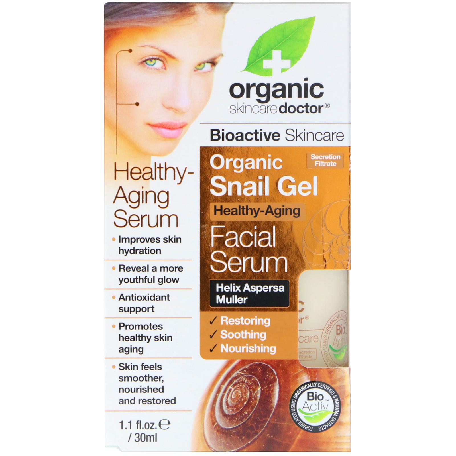 Organic Doctor Snail Gel Facial Serum 11 Fl Oz 30 Ml Secretion Filtrate Moisture Cream