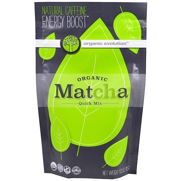Organic Evolution, Органический быстрорастворимый зеленый чай маття, 4, 23 унции (120 г) (Discontinued Item)