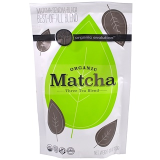 Organic Evolution, Organic Matcha, Three Tea Blend, 4.23 oz (120 g)