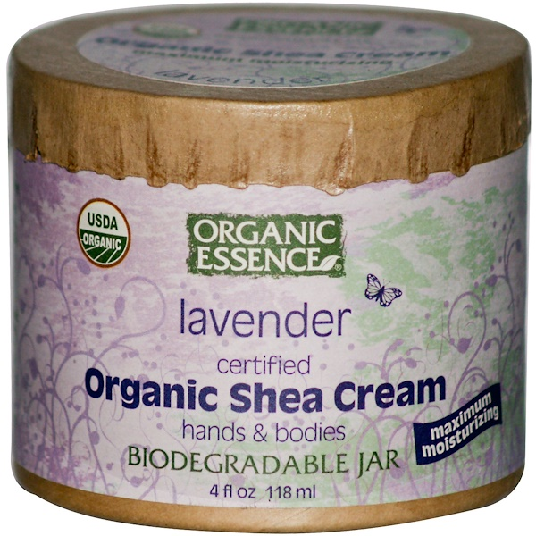 Organic Essence, Organic Shea Cream, Hands & Bodies, Lavender, 4 fl oz (118 ml) (Discontinued Item)