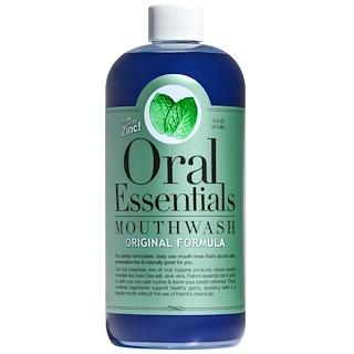 Oral Essentials, 漱口水,含鋅原始配方,16液體盎司(473毫升)