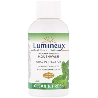 Lumineux Oral Essentials, Lumineux, Medically Developed Mouthwash, Clean & Fresh, 2 fl oz (59.15 ml)