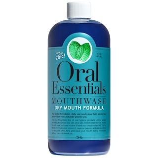 Oral Essentials, Mouthwash, Dry Mouth Formula with Zinc, 16 oz (473 ml)