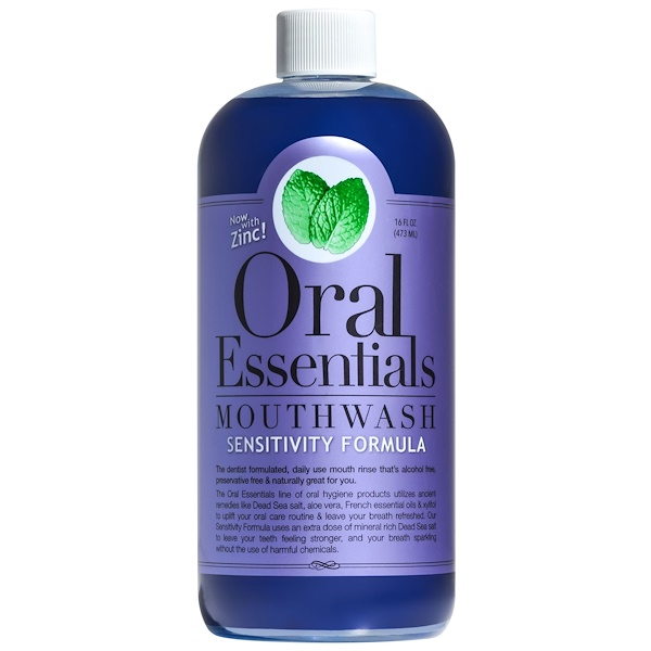 Lumineux Oral Essentials, マウスウォッシュ, 亜鉛配合の敏感な歯に適したフォーミュラ、, 16 fl oz (473 ml) (Discontinued Item)