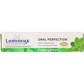 Lumineux Oral Essentials, Lumineux, pasta dental desarrollada clínicamente, limpio y fresco, 3.75 oz (106.3 g)