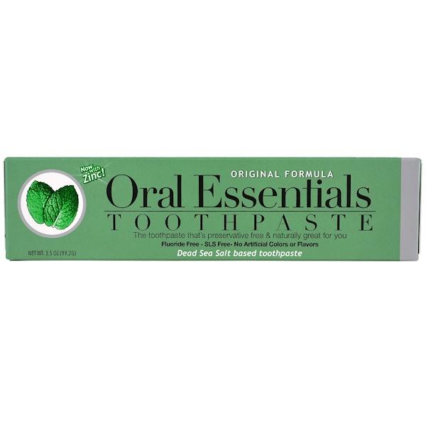 Oral Essentials, Toothpaste with Zinc, Original Formula, 3.5 oz (99.2 g)
