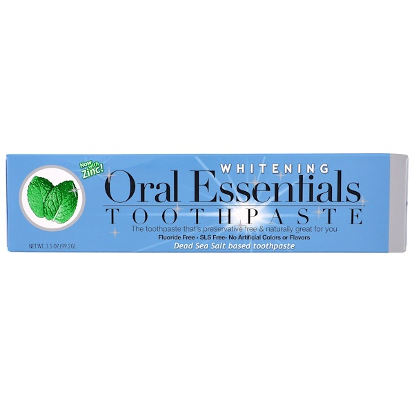 Oral Essentials, Toothpaste with Zinc, Whitening, 3.5 oz (99.2 g)