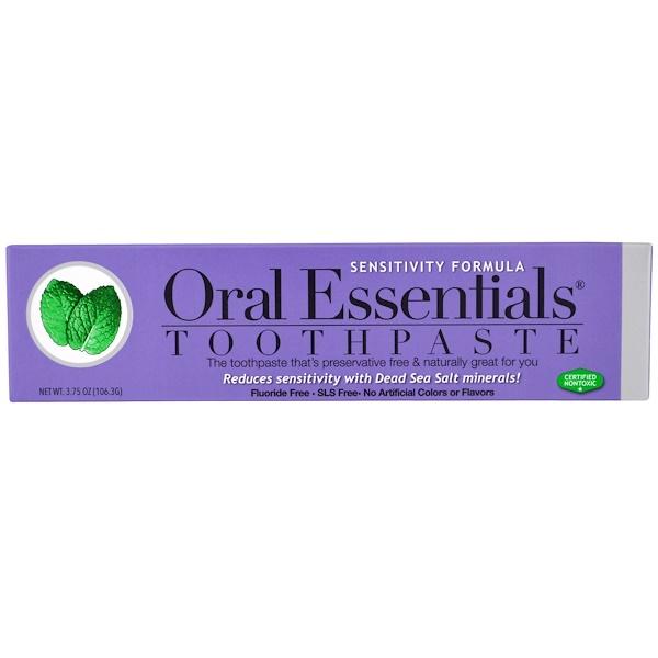 Oral Essentials, Toothpaste, Sensitivity Formula, 3.75 oz (106.3 g)