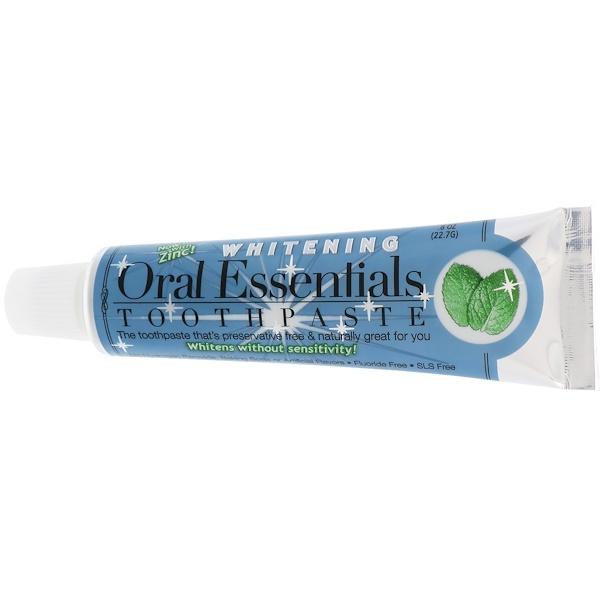 Oral Essentials, Toothpaste with Zinc, Whitening, .8 oz (22.7 g)