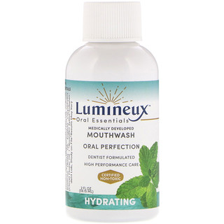 Lumineux Oral Essentials, Lumineux, Medically Developed Mouthwash, Hydrating, 2 fl oz (59.15 ml)