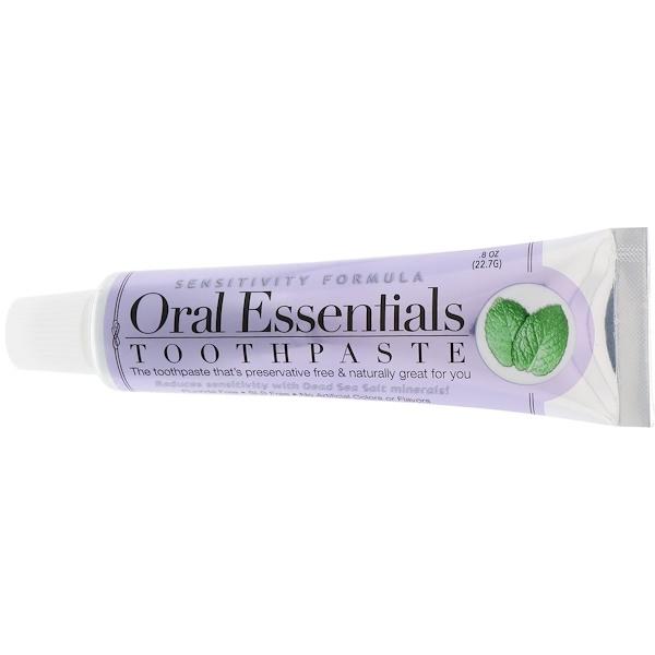 Oral Essentials, Toothpaste, Sensitivity Formula, .8 oz (22.7 g)