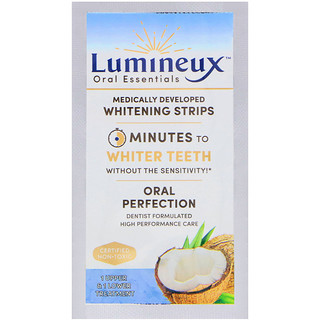 Lumineux Oral Essentials, Lumineux, Medically Developed Whitening Strips, 1 Upper & Lower Treatment