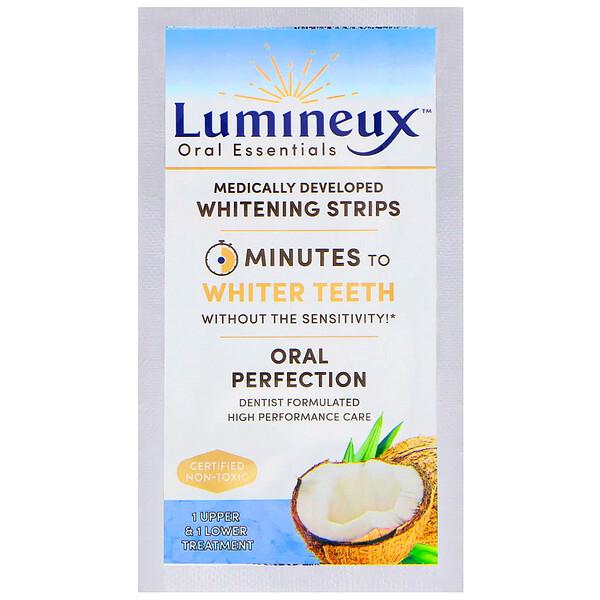 Lumineux Oral Essentials, ルミネックス、 歯科医が開発したホワイトニングストリップ、上歯・下歯(各1本)の治療用 (Discontinued Item)