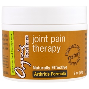 Органик Экселленс, Joint Pain Therapy, Arthritis Formula, Fragrance Free, 2 oz (57 g) отзывы