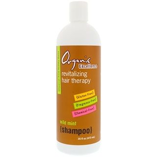 Organic Excellence, Shampoo, Revitalizing Hair Therapy, Wild Mint, 16 fl oz (473 ml)