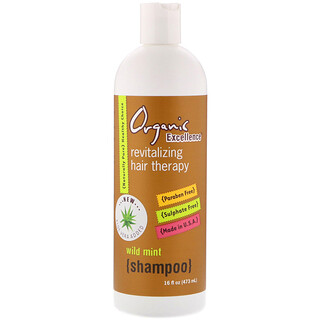 Organic Excellence, شامبومنشط لعلاج الشعر، بالنعناع البري، 16 أونصة سائلة (473 مل)